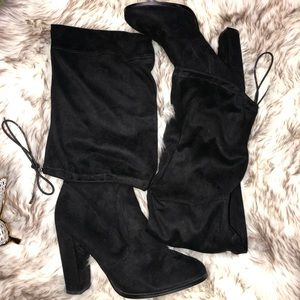 on feet shots of order cheapest price Asos Kingdom Thigh High Boots